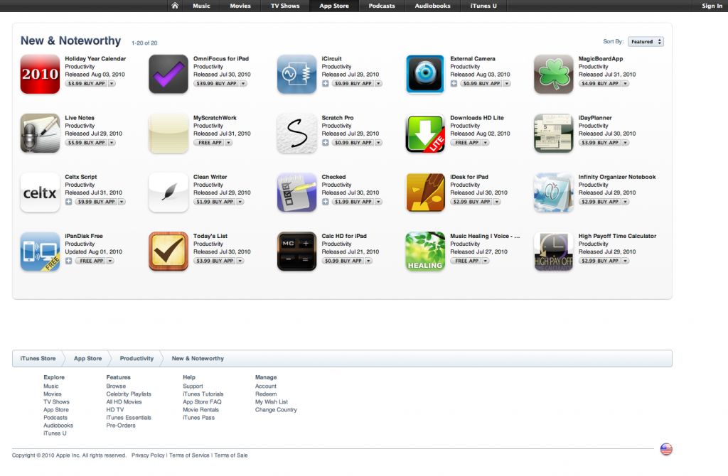 Holiday Year Calendar top in New & Noteworthy iPad Productivity 1
